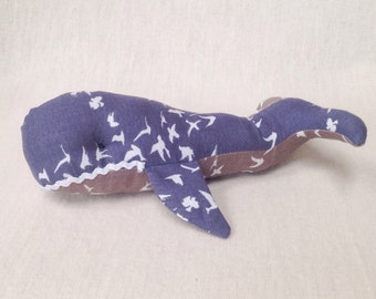 Baby toy organic whale