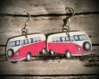 Pink Hippy Van earrings
