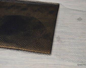 Vintage Millinery Netting Black