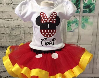 Mickey Mouse tutu, Mickey Mouse birthday, Minnie Mouse tutu, Minnie Mouse birthday outfit, Mickey Mouse birthday outfit, Clubhouse birthday