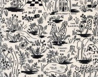 1 yard WONDERLAND by Rifle Paper Co. for Cotton and Steel Magic Forest Neutral