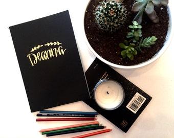 Custom Name Journal; New Years Journal; Favorite Word journal; Bullet Journal