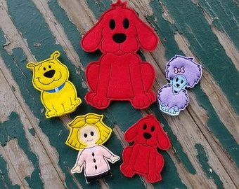 The Big Red Dog and Friends Finger Puppets - Sold Individually or as a Set