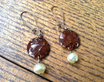 Handmade Stoneware Clay earrings