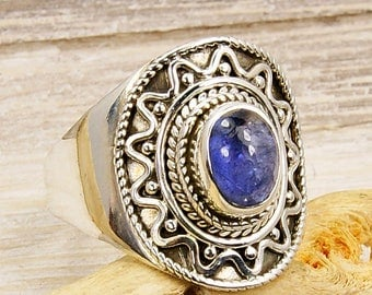 Iolite Ring & .925 Sterling Silver Ring Size 8.75 , U878