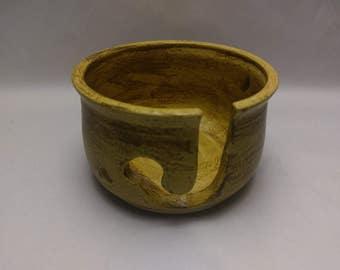 YARN BOWL - Salt Buff - Hand Made Wheel Thrown Ceramic #700