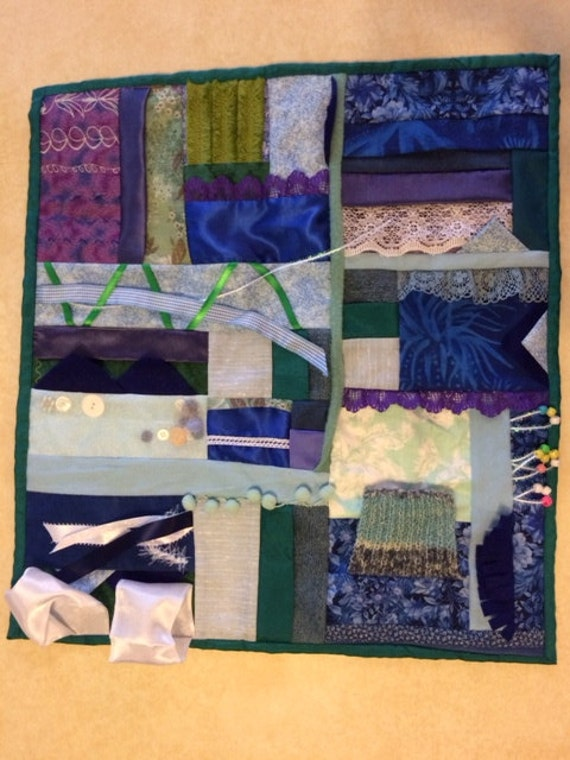 Sea Foam Fidget Quilt / Sensory Blanket