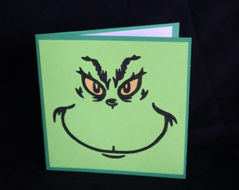 Set of 6 Grinch cards *blank inside*