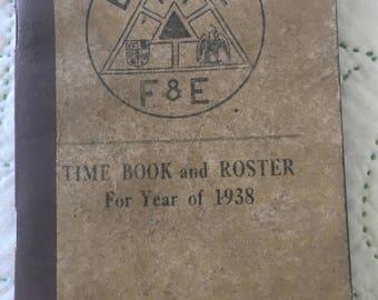 4 Vintage Ledger Journal Mini, Time Book, Ephemera, Antique Art Journal, Old Paper, Altered Book, Collage, Penn Lines Railway