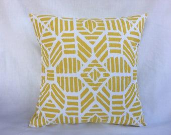 Yellow Cushion Cover - 20 x 20 Throw Pillow Cover - Cheap Throw Pillows - Bed Pillow Covers - Accent Pillow Cover - Sofa Pillows