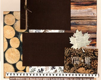 You and Me 2 Page Scrapbooking Layout Kit