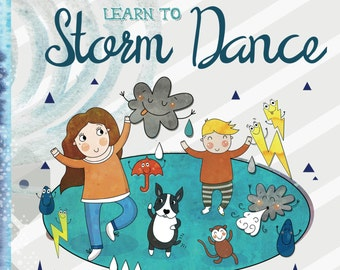 Children's book in paperback - 'Boston and Boy learn to Storm Dance' - a fun story of a boy & his dog solving their problem!