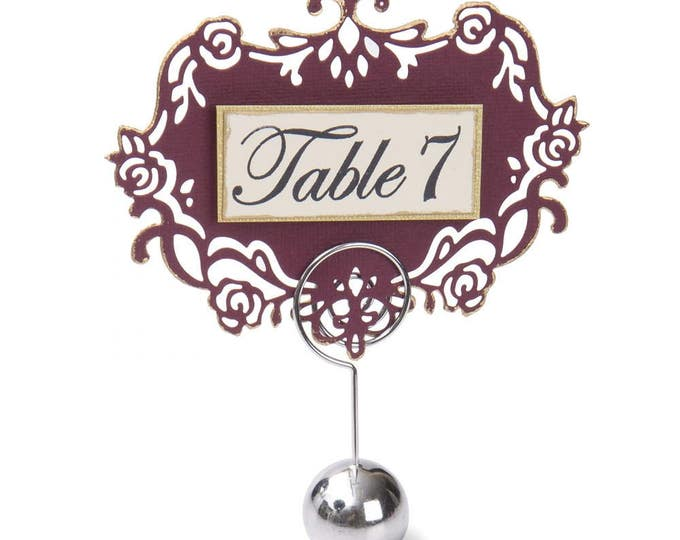 New! Sizzix Clear Stamps - Sentiments & Table Numbers by David Tutera 661890
