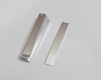 1/4 x 1 3/4  Earring Blanks -20G - 1100 Aluminum  -jewelry blanks -rectangle blanks  - blanks with hole - Stamping Supplies - hand stamping