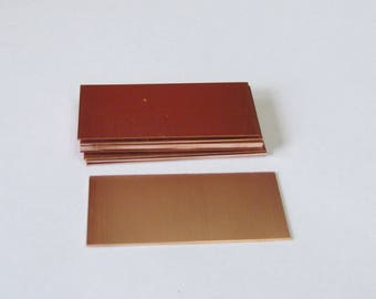 "Rectangle blanks - Copper blanks - 1 x 2 1/4"" 18g   COPPER Rectangle  Blanks   - Keychain blanks - Hand stamping bracelet supplies"