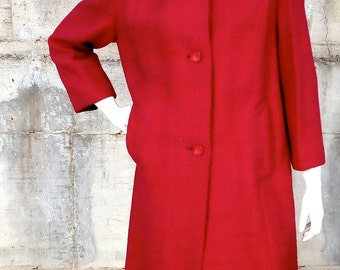 Women coat vintage wool made in Italy size M-L, 1950s