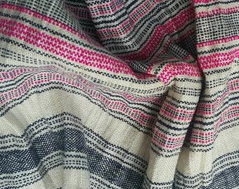 Hand woven Hmong hemp fabric by the meter. (H223)