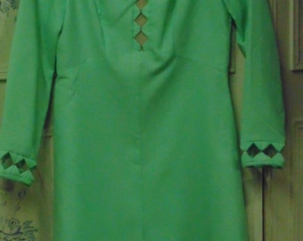 1960/70 Lime Green Dress, New Old Stock, Size 12