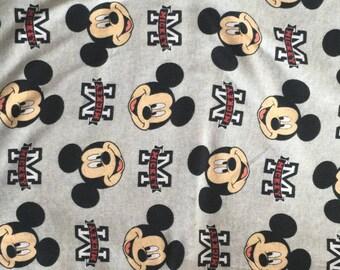 Pretty mickey in gray pattern soft Cotton lycra 48*170 cm cotton knit 1/2 yard