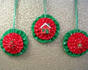 Gingerbread Christmas Tree Ornaments, Gingerbread House Ornaments, Gingerbread Man Ornamets, Yo Yo Ornaments, Suffolk Puff Ornament (3)