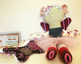 Keepsake Animal - Fairy with detachable wings, from your Baby Clothes