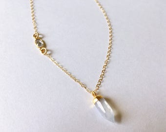 Moonstone Spike Necklace