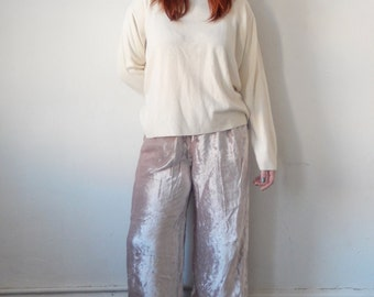 Lavender Crushed Velvet Pants
