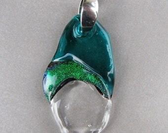 Murano glass pendant-Lampwork dichroic glass pendant -Glass pendant-exclusive design by CSG