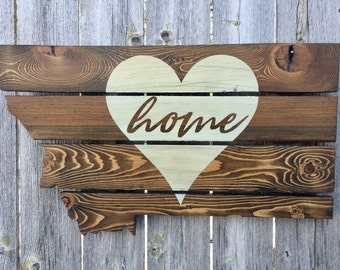 Recycled Pallet Montana Home is Where the Heart Is