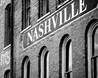 "Nashville Art, Nashville Photography, Nashville Building, Downtown Nashville, Country Music, Nashville Architectural, Wall Decor ""Nash"""