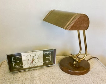Midcentury Desk Barometer, Humidity and Temperature