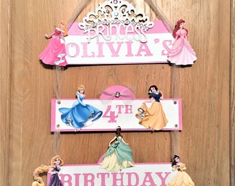 Princess Banner, Princess Door Sign, Princess name banner, Disney Princess Party Sign,princess banner, Princess decorations,princess party