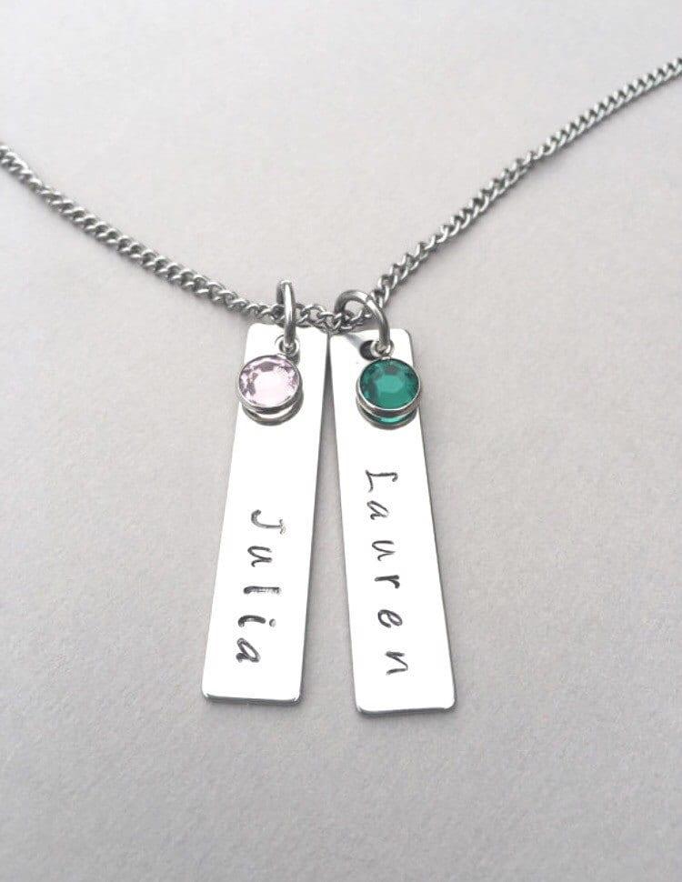mother 39 s name necklace mother 39 s birthstone necklace. Black Bedroom Furniture Sets. Home Design Ideas