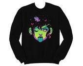 Neon Punk Girl Crewneck