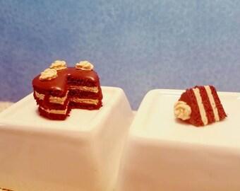 Miniature chocolate layer cake