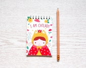 I am Catlady Spiral Notepad, Blank Notebook, Notepad for Bullet Journal