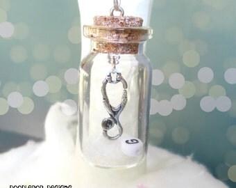 Personalised Christmas decoration - Gift for Doctor - Stethoscope ornament - Doctor ornament - Stocking filler - Snow globe - Secret Santa
