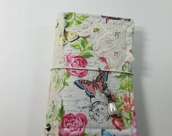 Raggedy Fabric 6x4 Travelers Notebook Cover