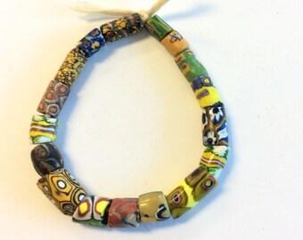 African antique Venetian assortment glass trade beads