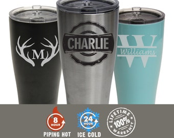 Personalized SIC Cup, Personalized SIC Tumbler, 30 oz Powder Coated Tumbler, Double Wall Tumbler, Vacuum Sealed, Engraved Tumbler
