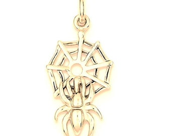 Spider On Web Charm (JC-1152)