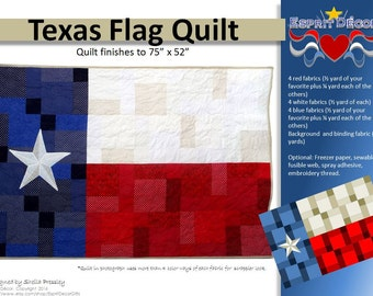 Pattern: Texas Flag Quilt