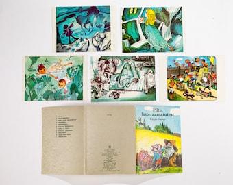 "Soviet Vintage Postcard Set of 11 - ""The images of children's books"" artist Edgar Valter - 1981 - Illustrations - 80s Postcard"
