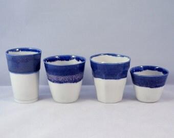 Porcelain espressocups, handmade