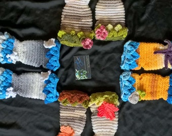 Season Themed Arm Warmers/Gloves Spring/Summer/Autumn/Winter MADE TO ORDER
