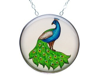 Peacock Round Statement Necklace