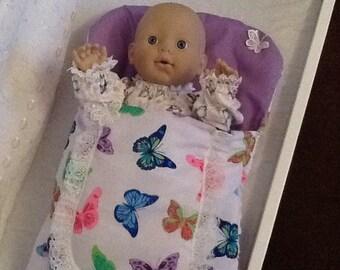 Dolls sleeping bag Butterflys