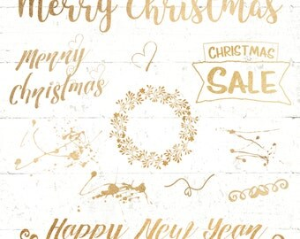 Christmas text overlay gold, glitter, Xmas lettering, digital lettering, vector, christmas sale,