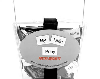 My Little Pony Poetry Magnet Set - Refrigerator Poetry Word Magnets - Free Gift Wrap