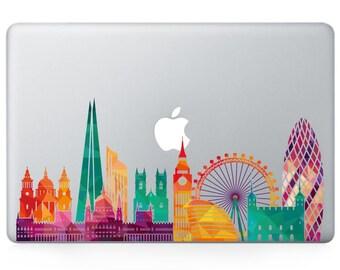 London metropolitan city vinyl decal, sticker for Apple Macbook Pro Mac 13inch